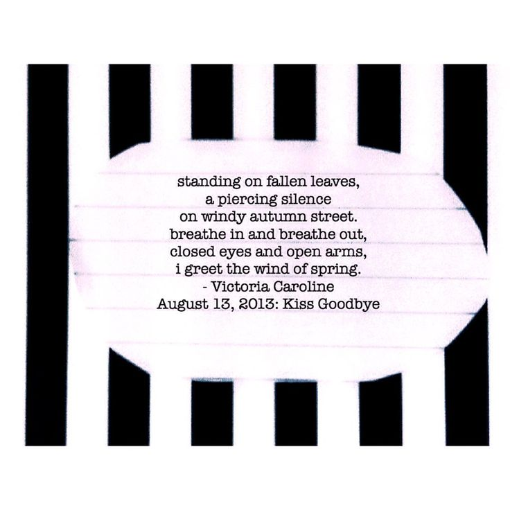 "Kiss Goodbye.  #poem #deadpoetsociety #victoriacaroline #vcarolinek  #writenation #poets   https://t.co/UOGNTuson1 https://t.co/5ONQBRi0sE"""