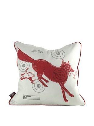 Inhabit Fox Bullseye Pillow, Scarlet Red