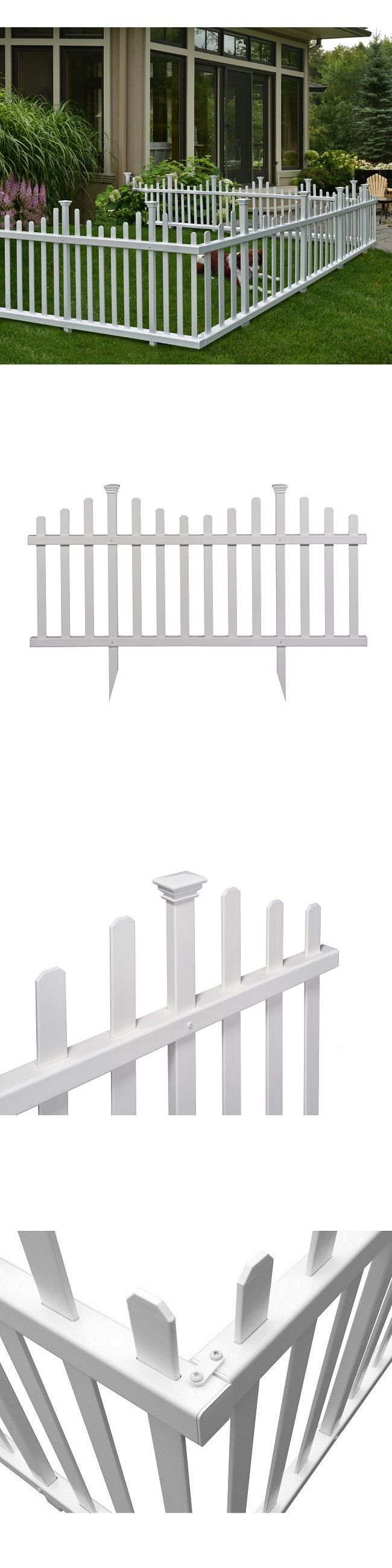 Fence Panels 139946: Garden Fence Fencing White Picket No Dig Vinyl Outdoor Kit Border -> BUY IT NOW ONLY: $104.61 on eBay!