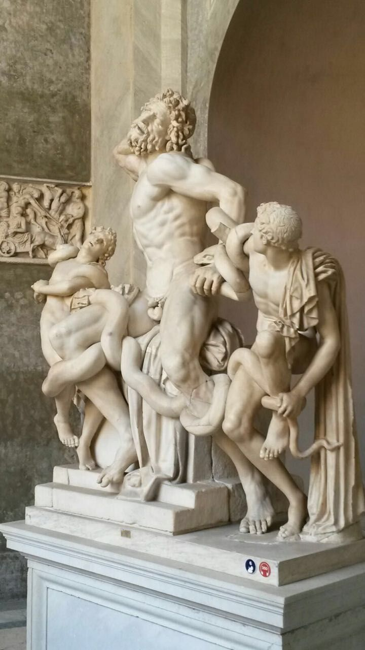 Lacoonte statue in the Vatican Museums - Vatican City. 1st century BC