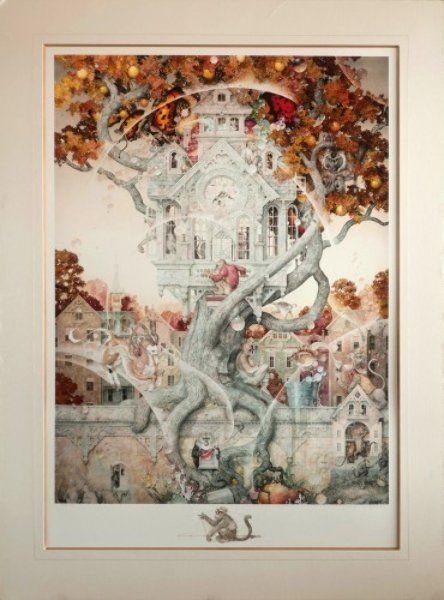 """Limited Edition Print """"Tail Spin AP 1996"""" by Daniel Merriam"""
