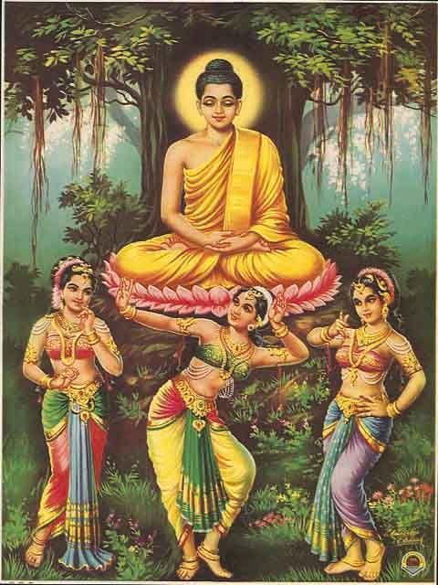 Siddhartha tempted by Mara