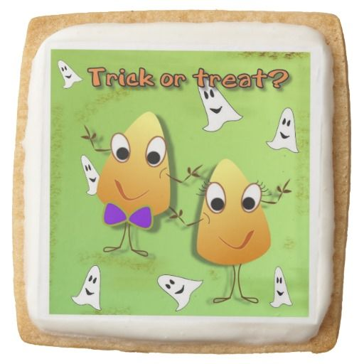 Trick or treat Halloween Square Shortbread