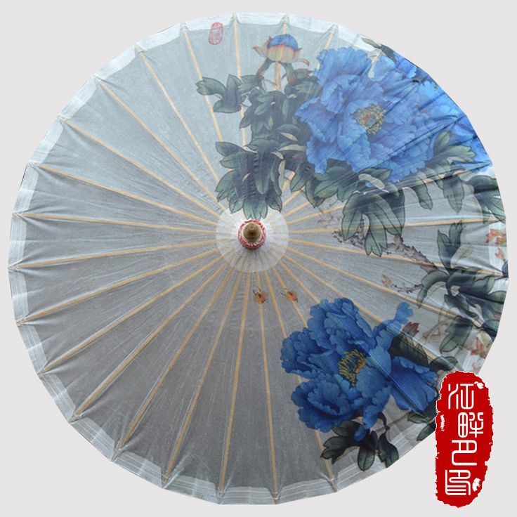 >> Click to Buy << Chinese Craft Oil Paper Umbrella Classical Tradition Oil Paper Ancient Dance Blue Peony Present Wedding Cosplay Gifts #Affiliate