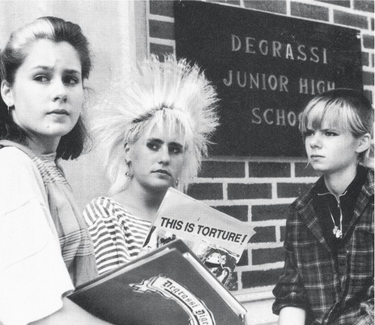 Caitlin, Spike and Liz. Degrassi girls.