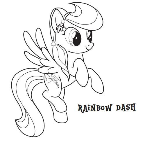 My Little Pony Rainbow Dash Coloring Pages Miakenasnet
