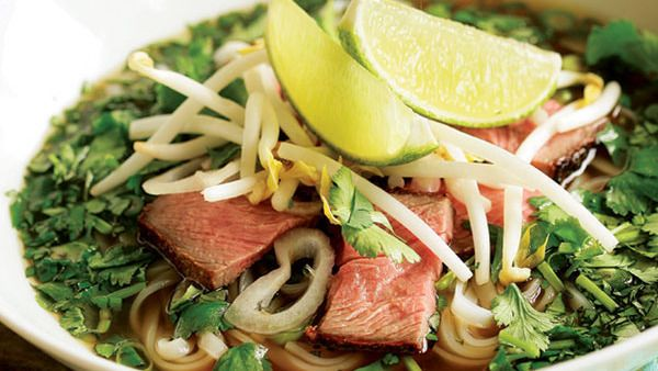 Vietnamese Beef Noodle Soup With Fresh Herbs Faux Pho Recipe
