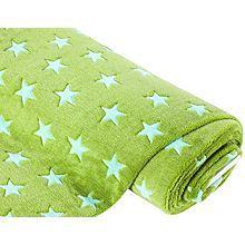 Tissu polaire 'étoiles', vert clair/vert menthe
