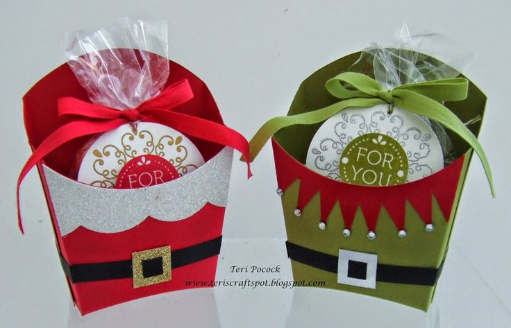 Stampin' Up! Fry Box - Santa and Elf Teri Pocock - http://teriscraftspot.blogspot.co.uk/2014/11/stampin-up-fry-box-santa-and-elf.html