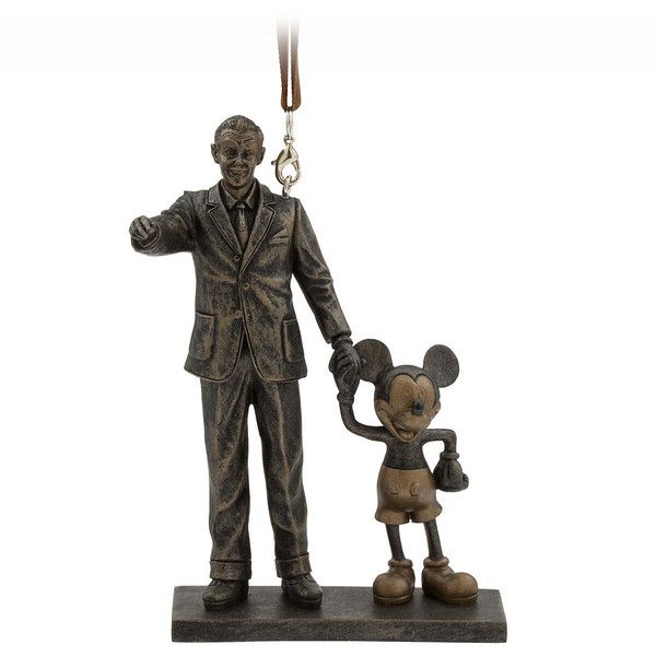 Walt Disney and Mickey Mouse Partners Figural Ornament ($22) ❤ liked on Polyvore featuring home, home decor, mickey mouse home decor, disney, disney home decor, mouse figurines and inspirational home decor