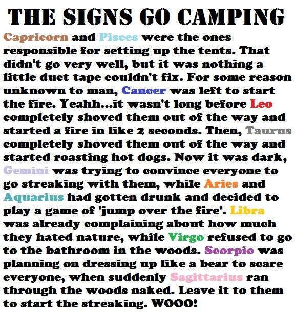 haha too funny :)  I would never go to the bathroom in the woods.  Hell, I probably wouldn't even be camping :D