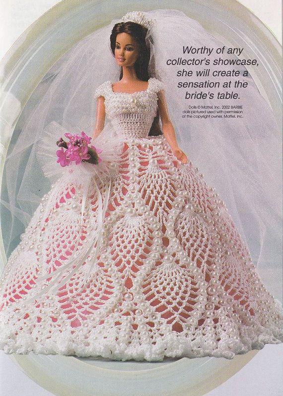 Fashion Doll's Wedding Dress Crochet Pattern