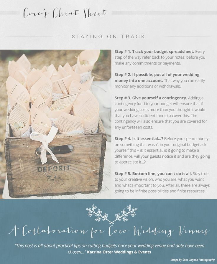 A Guide to… Cutting & Staying on Budget | Style Focused Wedding Venue Directory | Coco Wedding Venues