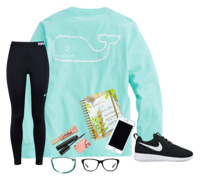 """""""Late Set But It's My Homework's Fault"""" by bowbeauty01 ❤ liked on Polyvore featuring Lilly Pulitzer, NIKE, Ralph Lauren, Bare Escentuals, Too Faced Cosmetics, Pura Vida and bowbeautiful"""