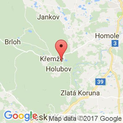 Mapa Pronájem chata Vydra - Křemže