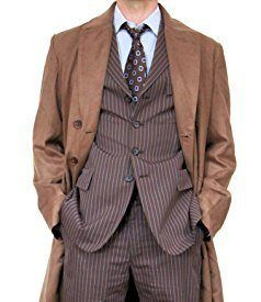 A smart, suit-cut overcoat with double-breasted closure. The back has a high centre-vent and long low split with button closure. Besom pockets are angled slightly for ease of use. This style of coat was popular in the 1930s and continued long after in different forms. Same style worn by David Tennant as the 10th Doctor […]