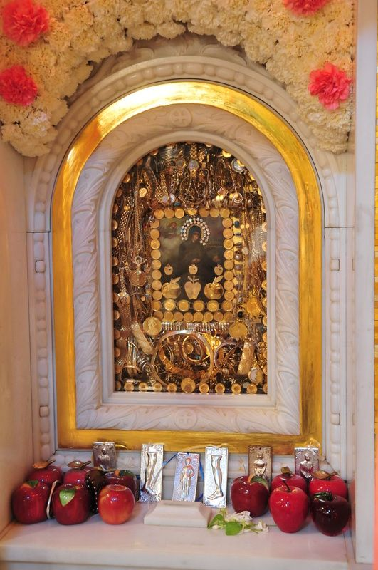 This Icon of St.Irene Chrysovalantou is said to have wept preceding and during the Persian Gulf War. St. Irene was known for her humility and eventually became abbess of the convent. As the story goes, an angel appeared and presented her with three apples from heaven. She ate the first one in tiny pieces over 40 days, cut up the second and gave pieces to other nuns who were sick, and they were healed. She ate the last apple just before her death at age 106.