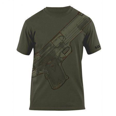 5.11 Tactical Logo T-Shirt - 1911 Sketched  Sehr schöne Baumwolle mit einwandfreier Qualität, und die Prints sind auch sehr gelungen!