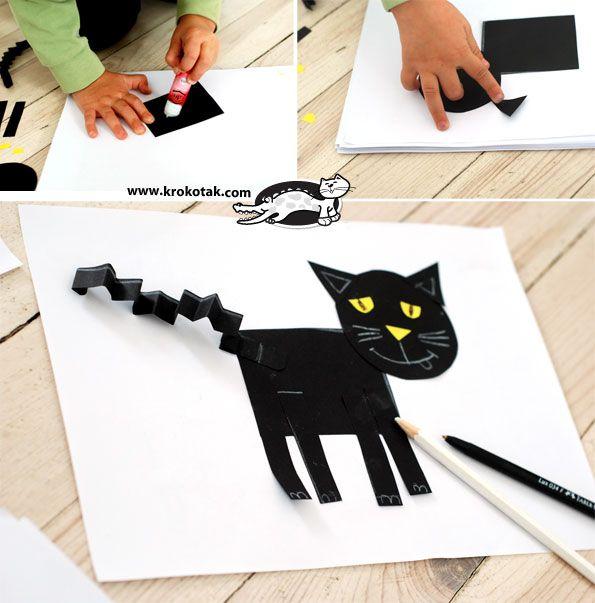 Лесна апликация на коте с геометрични форми