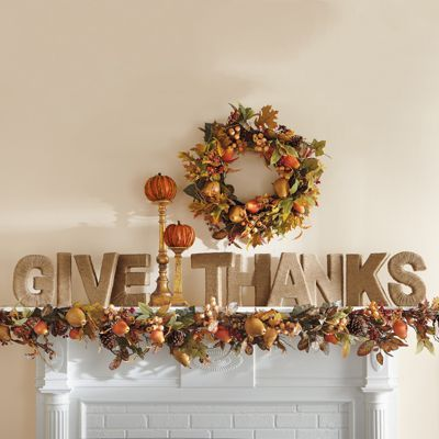 Give Thanks Jute Letters. Perfect for a simple mantel decor