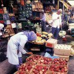 Fruit stalls on Parade 1960