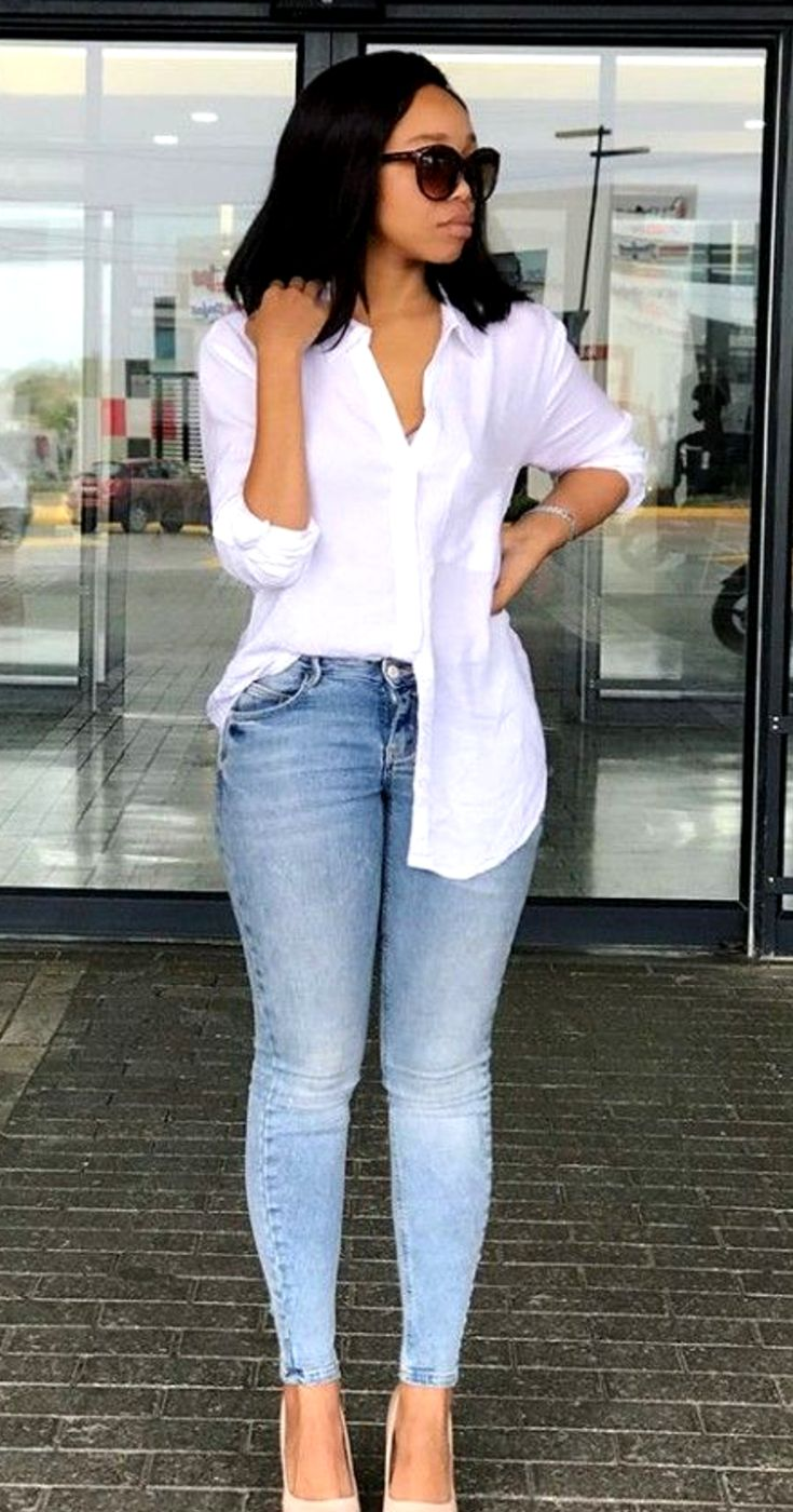 Denim Jeans Casual Fashion Outfit