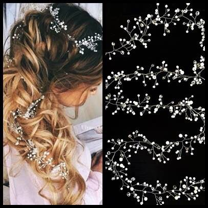 Wedding hair accessories, crystals and pearls ❤️