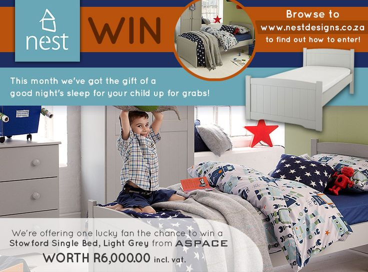 Enter now to win a Stowford Single Bed, Light Grey from Nest Designs and ASPACE!