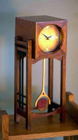 MahoganyCubeClock by CreamCity Clockworks.
