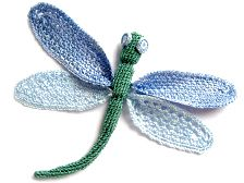 Crochet Dragonfly (link to free crochet patterns)