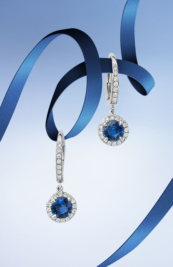 Make her eyes sparkle with #Bucherer earrings with colored #gemstones #ThisIsForLove #ThisIsForLove