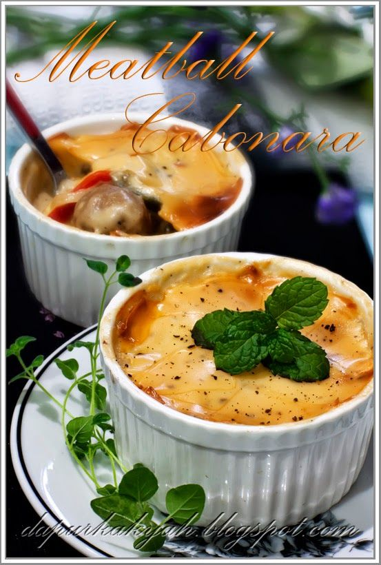 Dari Dapur Kak Yah: Meatball Carbonara