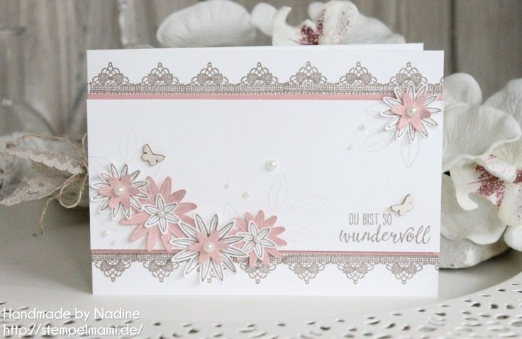 Stampin Up - Geburtstagskarte - Karte - Grusskarte - Greetin Card - Birthday Card - Card - Stempelset So dankbar - Produktpaket So dankbar - Hochzeit - Einladungskarte - Wedding - Invitation Card ☆ Stempelmami