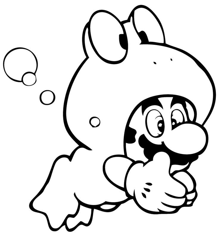 Coloriages à imprimer - Mario Bros (Jeux Vidéos)