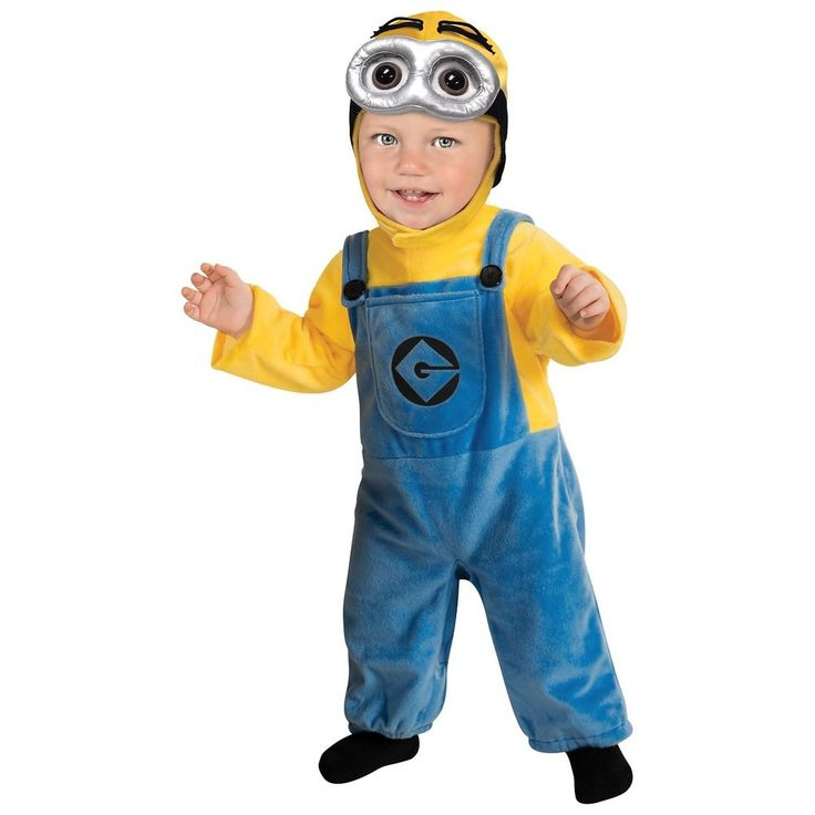 Minion Costume. This super cute minion costume (toddler & baby sizes) includes a jumpsuit complete with Gru logo and headpiece. Our minion costume toddler comes in baby sizes Toddler, Infant. The headpiece features printed minion eyes with soft 3-D goggles.   eBay!