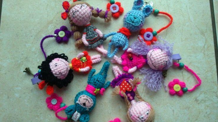 Sweet crochet key rings