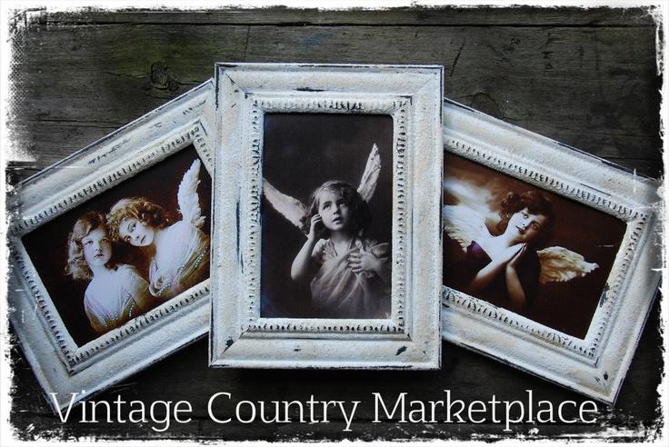 Vintage Country Style: Tutorials - Vintage Farm Frame Tutorial    Turn Cheap Dollar Store Plastic Frames Into Vintage Farm Frames