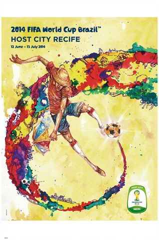 FIFA World Cup 2014 Official Venue Poster - Recife ~available at http://mbasportsnews.blogspot.com/2014/05/fifa-world-cup-2014-brazil.html #Fifa #WorldCup2014 #Brasil