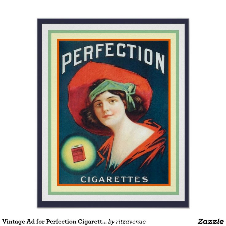 Vintage Ad for Perfection Cigarettes 16 x 20 Poster