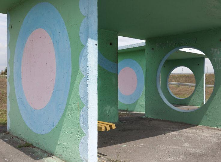 quibbll.com - Кристофер Хервиг (Christopher Herwig): Советская автобусная остановка - Украина, г. Полтава