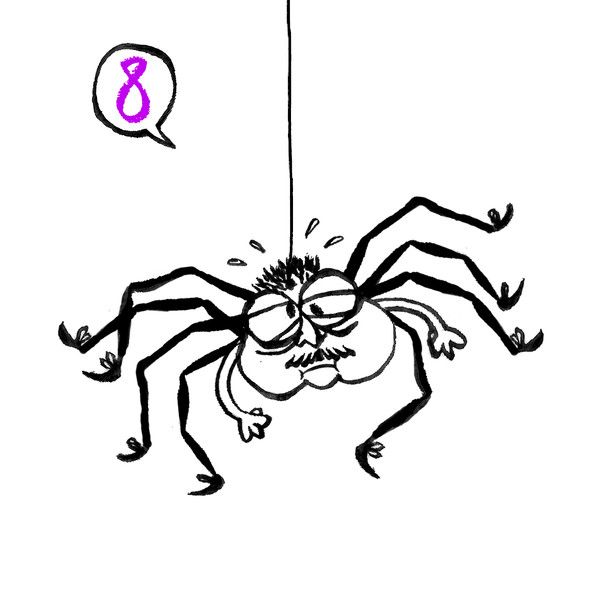 This is the Karo Rigaud 2014 Advent Calendar…# 8 - Araignée - Spinne - Spider - Moustache - Mustache - Schnurrbart