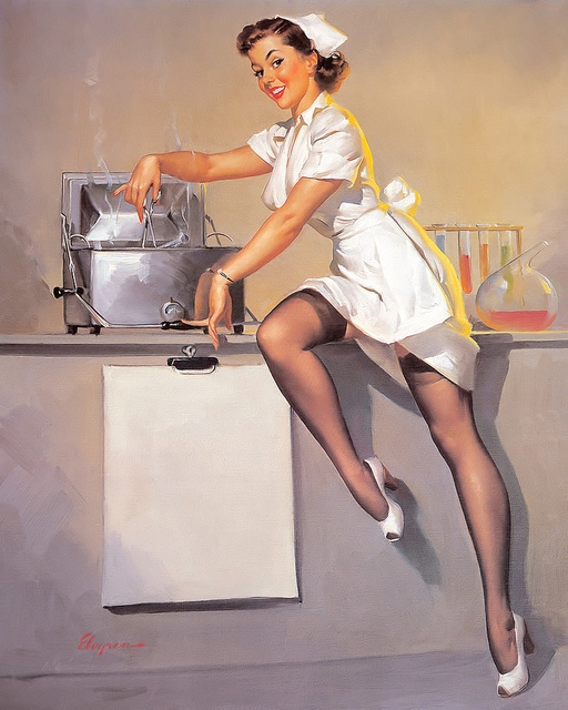 For all the nurses I know and also because I have never seen a nurse pin up