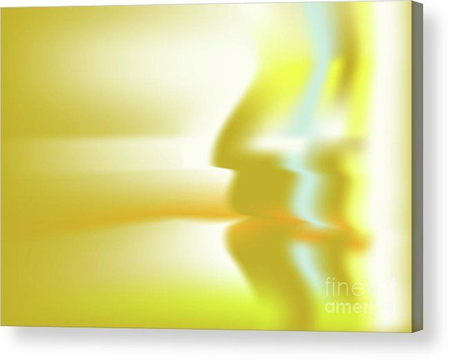 Gold Acrylic Print featuring the digital art Hominium by Ron Labryzz