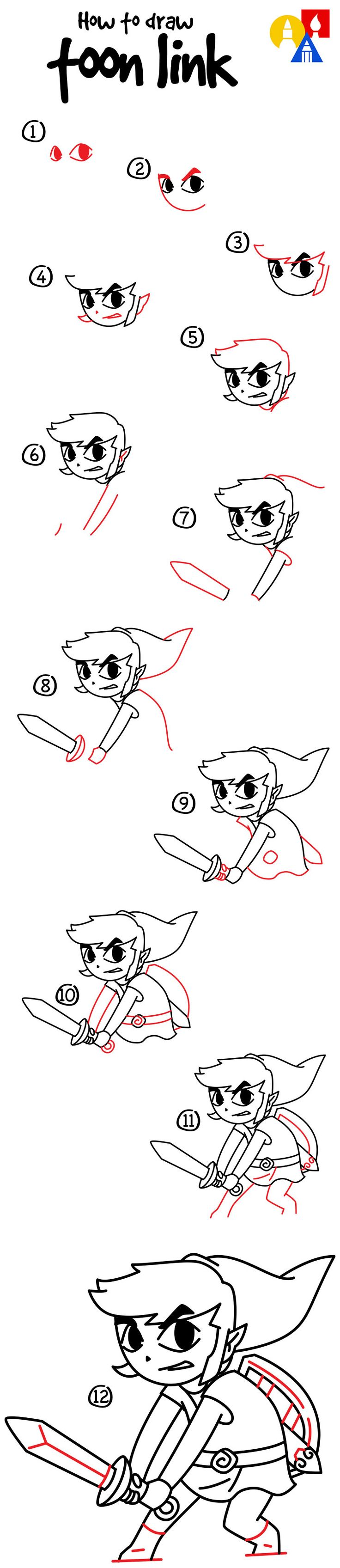 how to draw toon zelda