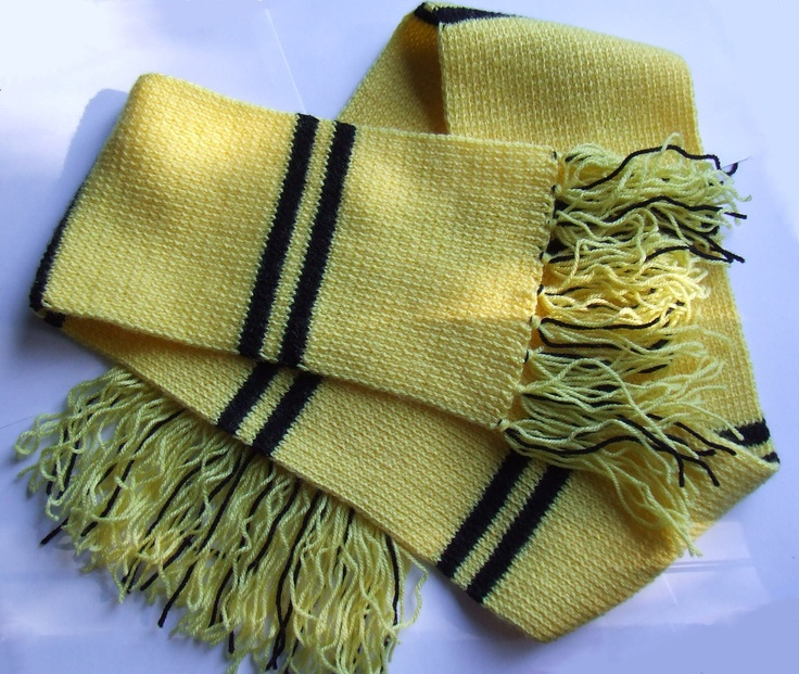 Hufflepuff Scarf Knitting Pattern : Harry Potter Scarf - Hufflepuff Scarfs, Harry potter ...