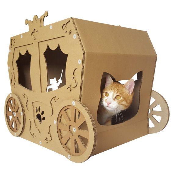 Carriage Cardboard Cat House,Cat Furniture,Cat Bed,Cat Cave,Cat Toy
