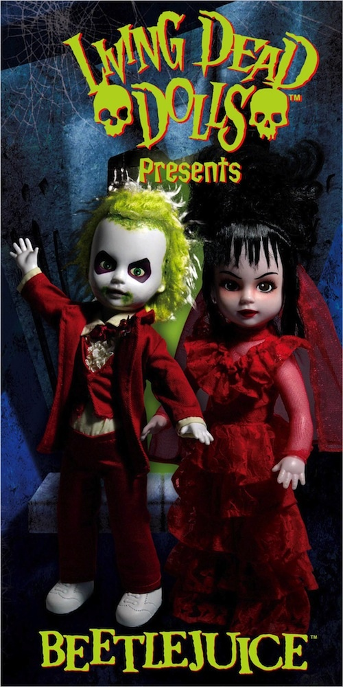 Beetlejuice and Lydia Living Dead Dolls!