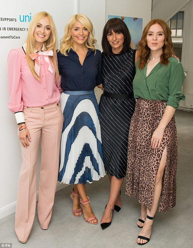 df40281c2a8bd Together for a good cause: Holly Willoughby showed off her svelte figure in  a blue