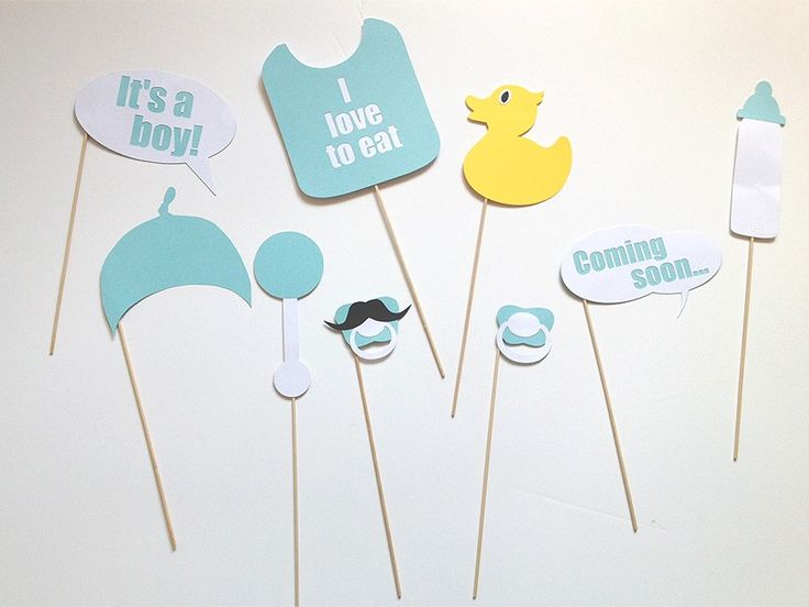 Babyshower jongen photobooth props