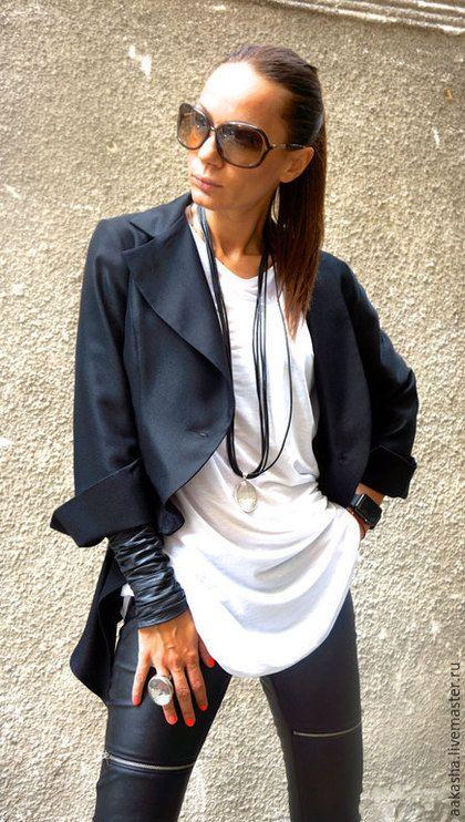 Пиджак черный жакет короткий пиджак стильный пиджак черный жакет женский стильная одежда модный пиджак на осень кардиган короткий жакет шерстяной черный стиль модный пиджак черная шерсть черно-белый